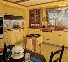 Country Kitchen Styles 1970s Kitchen Design One Harvest Gold Kitchen Decorated In 6