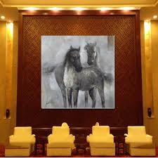 Ljp Leinwand ölgemälde Handmalerei Pferd Wandbild Wohnzimmer