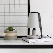 concrete table lamp. Concrete Table Lamp-Black. ;  Lamp
