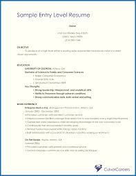 Resume Objective Entry Level Objective For Resume Samples Entry Level Emberskyme 22