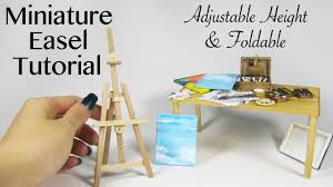 diy miniature artist easel made with popsicle sticks