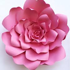 Large Paper Flower Pattern Paper Flower Tutorial Paper Flower Backdrop Paper Flower Template