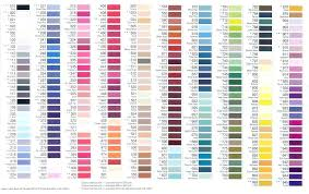 Madeira Thread Color Chart Brother Embroidery Thread Color Chart Conversion Polystar