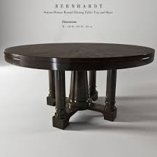 bernhardt sutton house round dining table top and bas 3d model max obj fbx mtl mat