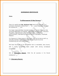7 Work Experience Certificate Sample Pdf Job Resumed