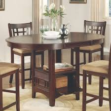 brown wood piece counter height dining set american freight mcgregor table chairs tall black square maple with leaf high room sets and stools white kitchen