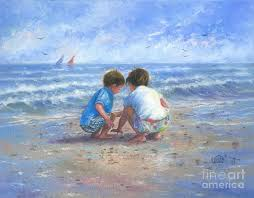 brother and sister painting finding sea ss brother and sister by vickie wade