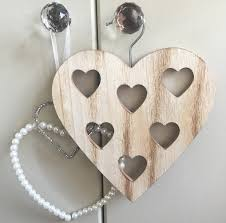 wooden heart scarf hanger