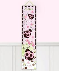 Toad And Lily Growth Chart Toad And Lily Pink Ladybug Personalized Growth Chart Zulily
