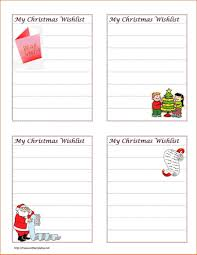 Christmas Wish List Printable Printable Letter Christmas Christmas Wish List Template Pdf Wish 16