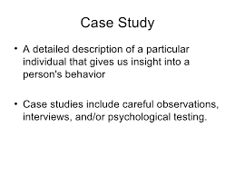 Writing A Case Study Psychology Psychology Case Study Format To