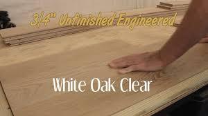 unfinished engineered white oak clear hardwood flooring 3 4 inch