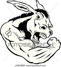 イラスト Lineart 動物 ろば ラバ マスコット スポーツ クリップアート切り張りイラスト絵画集
