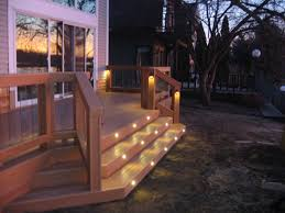 deck stair lighting ideas. stair lighting deck ideas e