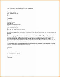 acceptance of job offer letter sample job offer letter