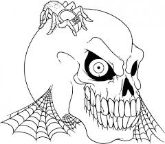 Small Picture Scary Halloween Coloring Pages For Kids bootsforcheapercom