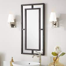Austi Decorative Iron Vanity Mirror Black Powder Coat Bathroom