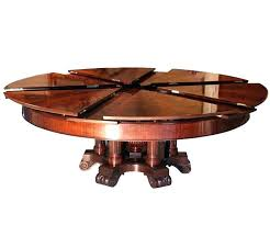 round expanding table circular capstan worlds coolest expandable in walnut hardware for round expanding table