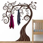 Wall Tree Coat Rack Fairy Tree coat racks decals Dezign With a Z 3