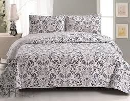 Amazon.com: Martinique Collection 3-Piece Luxury Quilt Set with ... & Amazon.com: Martinique Collection 3-Piece Luxury Quilt Set with Shams. Soft  All-Season Microfiber Bedspread and Coverlet with Beautiful Printed Pattern. Adamdwight.com