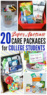 20 care package ideas for college students