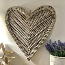 Large Wicker Heart With Lights Large Wicker Heart