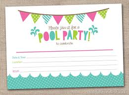 Free Pool Party Invitations Printable Free Printable Pool Party Birthday Invitations In 2019