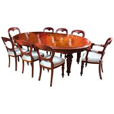 antique victorian oval dining table 8 chairs dining table and 8 chairs for