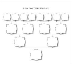 Family Tree Charts To Download Blank Family Tree Chart 6 Free Excel Word Documents