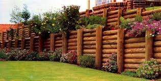 Small Picture Timber log retaining walls GopherHaul Landscaping Lawn Care