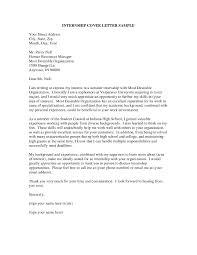 Cover Letter Student Internship Internship Cover Letter Best Cover Letter 20