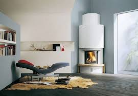 corner fireplace contemporary design