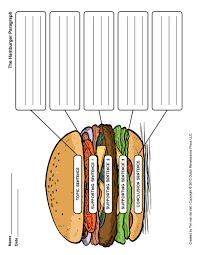 hamburger paragraph worksheet rringband hamburger paragraph worksheet tim s printables