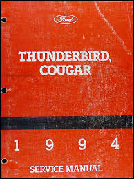 1994 ford thunderbird mercury cougar wiring diagram original 1994 ford thunderbird mercury cougar repair shop manual original