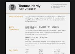 11 Free Psd Html Resume Templates Web Graphic Design Bashooka
