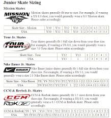 Toddler Hockey Skate Size Chart Norcross Roller Hockey