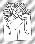 Gift Tag Coloring Page Jesus A Gift From God From Sunday School Kids Bible Bytes