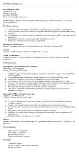 Pharmacist Objective Resume Format Hospital Job For Sample