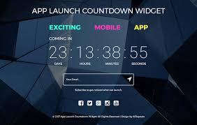 countdown templates app launch countdown widget a flat responsive widget template