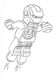 Lego Iron Man Coloring Page Free Printable Coloring Pages