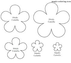 Small Paper Flower Templates Free Printable Daisy Flower Template Large Templates Paper Image