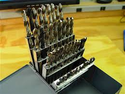 huot drill index. set of 41, 6mm to 10mm by 0.1mm, jobber-length, hss metric drill bits in a huot index. index