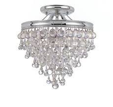 crystorama calypso 3 light chrome semi flush