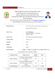 B Pharmacy Resume Format For Freshers Free Resume Example And