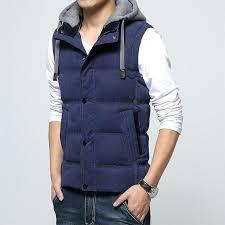 mens work vests new spring autumn sleeveless jacket men fashion warm hooded male winter khaki vest plus size waistcoat canada