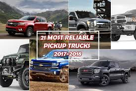 21 Most Reliable Pickup Trucks 2017- 2018 | Cars Techie