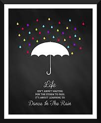 motivational artwork for office. Tallenge - Motivational Poster Dance In The Rain- Inspirational Quote Xlarge Size Ready-to-hang Framed Art Print On Photographic Paper For Home And Artwork Office