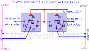 how to wire relays door locks wire alternating volts positive door locks 5 wire alternating 12 volts positive