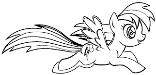 Small Picture Kid Coloring Pages My Little Pony Rainbow Dash Coloring Home