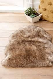 natural luxury faux sheepskin rug